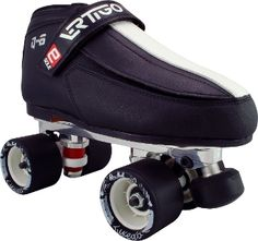 Vertigo Q6 PowerTrac Tuxedo  Boot: Luigino Vertigo Q6 Plate: Sure-Grip PowerTrac Wheels: Backspin Tuxedo Bearings: Bionic Swiss Toe Stops: Sure-Grip RX Toe Stop Available in black  $929.00
