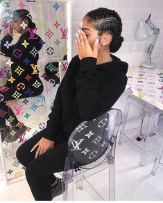 Hair Style Girl how to style really short hair black girl Black Girl Braids, Braids For Black Hair, Girls Braids, 4 Braids, Black Curly Hair, Thick Hair, Curly Bob, Long Hair, Short Hair Dont Care
