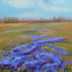Artists Of Texas Contemporary Paintings and Art: Wildflower Fields Forever by Kay Wyne