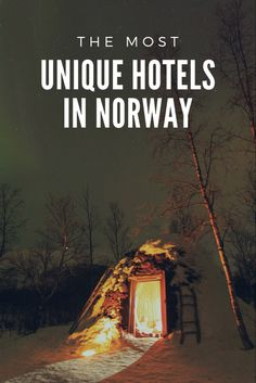 From snow hotels to lighthouses, why not stay somewhere different? Big hotel chains dominate Norwegian cities, but search a little harder and you'll find some truly unique accommodations in Norway. Norway Tours, Norway Hotel, Norway Travel, Visit Norway, Unique Hotels, Plan Your Trip, Vacation Spots, In The Heights, Chains