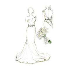 One year anniversary gift is paper. Have a sketch of her wedding dress created. Breathtaking gift that will make you her hero. Paper anniversary gift.