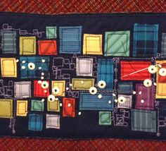 Love the stitching in between the squares.  --  AND SEW IT GOES: Blog, oh, Blog...