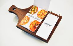 More unique menus...  Vittobeneto by Sciencewerk , via Behance