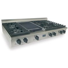 FiveStar Cooktops 48 Inch 6 Burner Natural Gas 6 Burner Cooktop With Griddle- Stainless Steel available at ShoppersChoice.com. This...
