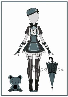 Outfit adoptable CLOSED 04 by AS-Adoptables.deviantart.com on @DeviantArt