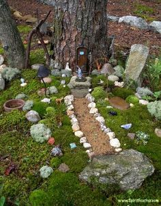 Tons of fairy garden ideas