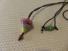 Χάρτινη Σβούρα - Κολιέ, Handmade Necklaces, Jewelry, Jewlery, Jewerly, Schmuck, Jewels, Jewelery, Fine Jewelry, Jewel