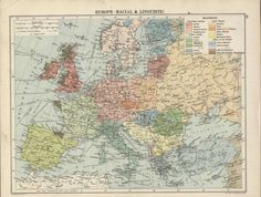 Europe – racial and linguistic, 1920 #map #demography #europe