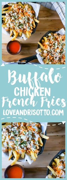 These buffalo chicken french fries are a mouthwatering masterpiece! Topped with blue cheese and wing sauce, they are a tasty delight! Buffalo Chicken Fries, Cheese Fries, Cheese Food, Cheese Game, Blue Cheese Recipes, Cooking Recipes, Healthy Recipes, Skillet Recipes, Pizza Recipes
