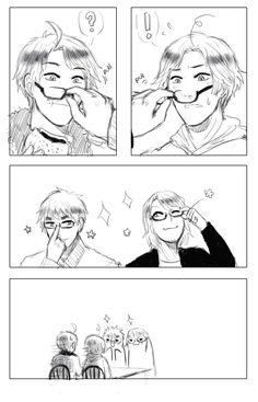 FACE family <<< it's now canon that every single member of the FACE family looks good in glasses