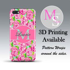 Monogram iPhone 6 Personalized Phone Case. Lilly Pulitzer Inspired Monogrammed iPhone 5 Case. Iphone 4, 4S, 5, 5S, 5C iPhone 6 Plus #2306 by MonogramStyles on Etsy https://www.etsy.com/listing/195371788/monogram-iphone-6-personalized-phone