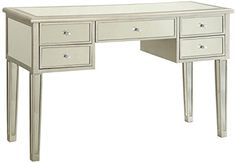Coaster Home Furnishings 800849 Writing Desk, Antique Silver