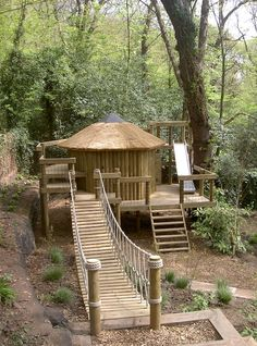 Rope Bridges and Log Rope Bridges for treehouses by Treehouse Life