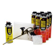 Dow Great Stuff Gap and Crack Foam Sealant Kit with cleaner and gun