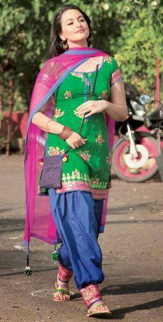 Sonakshi Sinha's Green Salwar Kameez and Dupattas