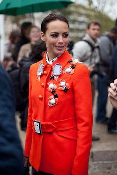 STREET STYLE SPRING 2013: PARIS FASHION WEEK - Berenice brings it again, this time in Miu Miu.