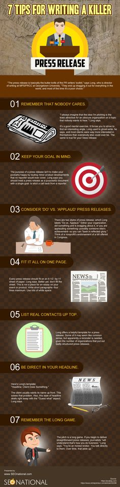 7 Tips for Writing a Killer Press Release  #infographicsarchive