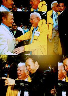 "raphmike: "" Neal McDonough & Buck Compton || Bill Guarnere & Frank John Hughes || Carwood Lipton & Donnie Wahlberg """