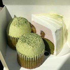 Pretty Cakes, Cute Cakes, Think Food, Cute Desserts, Greens Recipe, Cafe Food, Aesthetic Food, Aesthetic Green, Japanese Aesthetic