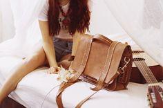 Briefcase bag teacher satchel leather bag by lazionlinehandel