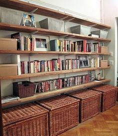 idea for shelving under a tv