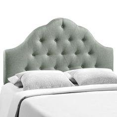 Sovereign King Upholstered Fabric Headboard in Gray - LexMod