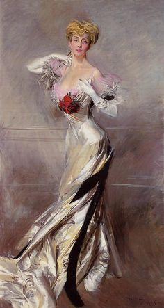 Giovanni Boldini (1842-1931) ritratto della Contessa Zichy, 1905, olio su tela, Collezione privata
