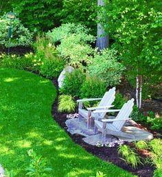 34 Easy And Low Maintenance Front Yard Landscaping Ideas #lowmaintenancefrontyard ⋆ aegisfilmsales.com Backyard Garden Design, Yard Design, Lawn And Garden, Backyard Ideas, Backyard Seating, Garden Seating, Desert Backyard, Garden Oasis, Modern Backyard