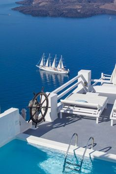 On the Rocks Hotel in Santorini, Greece