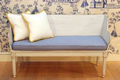 http://www.ireado.com/functional-design-kids-furniture-sets/ Functional Design, Kids Furniture Sets : Stunning White And Yellow Border  Classical Asian Mini Sofa White Wooden Style Design Completed Wit...