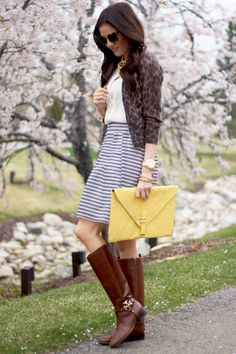 Boots and skirt - spring