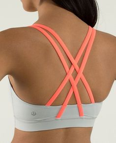 Lululemon Energy Bra $48.00 Silver Spoon/Very Light Flare ~