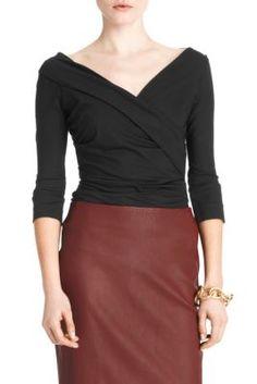 Diane von Furstenberg bentley top...I have it in an orange/red color