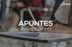 Spanish Word of the Day: APUNTES #Spanish #LearnSpanish #ViveElEspañol