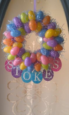 My easter egg wreath