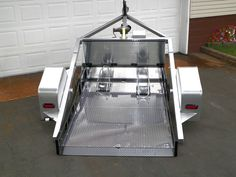 no ramp motorcycle trailers