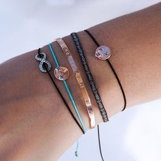 Bracelets are easily stacked to create a different look every time Get crazy & mix colors to your taste Here we chose to give black and turquoise a go #armband #bracelet #emoji #collection