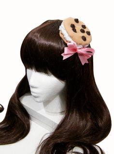 Chocolate Chip Cookie Ice Cream Sandwich Barrette In Ice Cream Cookie Sandwich, Ice Cream Cookies, Mint Chocolate Chips, Chocolate Chip Cookies, Kawaii Accessories, Hair Accessories, Kawaii Cookies, Hat Day, Lolita Fashion