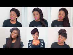 ▶ 6 Unique Quick & Easy Styles For Box Braids/Twists - YouTube