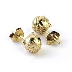 Official Harry Potter Golden Snitch Stud Earrings #GlitterEverything