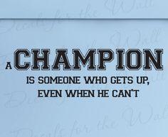 Champion #champion #sportsquotes #sportsgifts