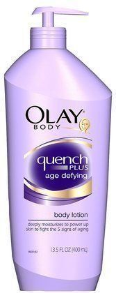 """Olay Body Quench Plus Age Defying Body Lotion   When it comes to African-American skin and aging, the old adage """"Black don't crack"""" is true -- up to a certain point. We may not get tons of wrinkles and fine lines, but our skin does age. It starts to lose elasticity and sag, or the lifetime effects of sun exposure can result in hyperpigmentation and """"age spots."""" Black hair also ages, thinning out over time or becoming quite dry and brittle. The trick to staving off signs of aging? Start a"""