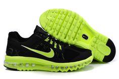 new arrival e107d f18cd Nike Air Max +2013 Coussin Chaussures De Course Des Hommes noir  vert-Boutique La