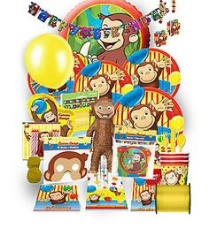 Curious George Birthday Jumbo Kit Birthday Themes For Boys, 2nd Birthday Parties, 4th Birthday, Birthday Ideas, Curious George Party, Curious George Birthday, Birthday Supplies, Party Supplies, Birthday Celebrations