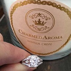 Charmed Aroma candle in vanilla crepe