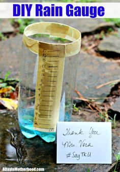 DIY Rain Guage + Say Thank You to to Someone Who  Inspired You in Science #SayTkU ad  Say