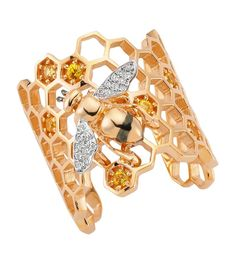 Bee Goddess Diamond Honeybee Ring | Harrods