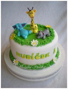 se zvířátky Birthday Cake, Desserts, Food, Tailgate Desserts, Deserts, Birthday Cakes, Essen, Postres, Meals