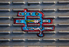 painting made on discarded chewing gum by artist Ben Wilson is seen on the Millennium Bridge in London Ben Wilson, Wilson Art, Millennium Bridge, Foto E Video, Photo And Video, Small Words, Chewing Gum, London Street, Naive Art