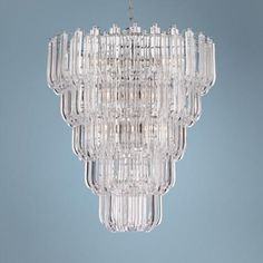 """Tylla 20 1/2"""" Wide Chrome Chandelier  Style # X8842 Set a grand tone with this beautifully divine chandelier.       $299.99 x 2."""